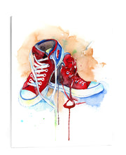 "Red Shoes Art Print on Canvas - 16"" x 20"" gallery wrapped canvas - Jamie Hansen Art"