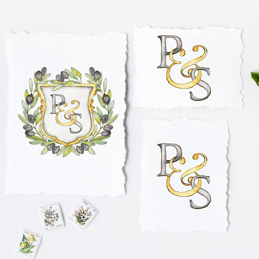 Design your Own Monogram Crest with Custom Shield and Animals