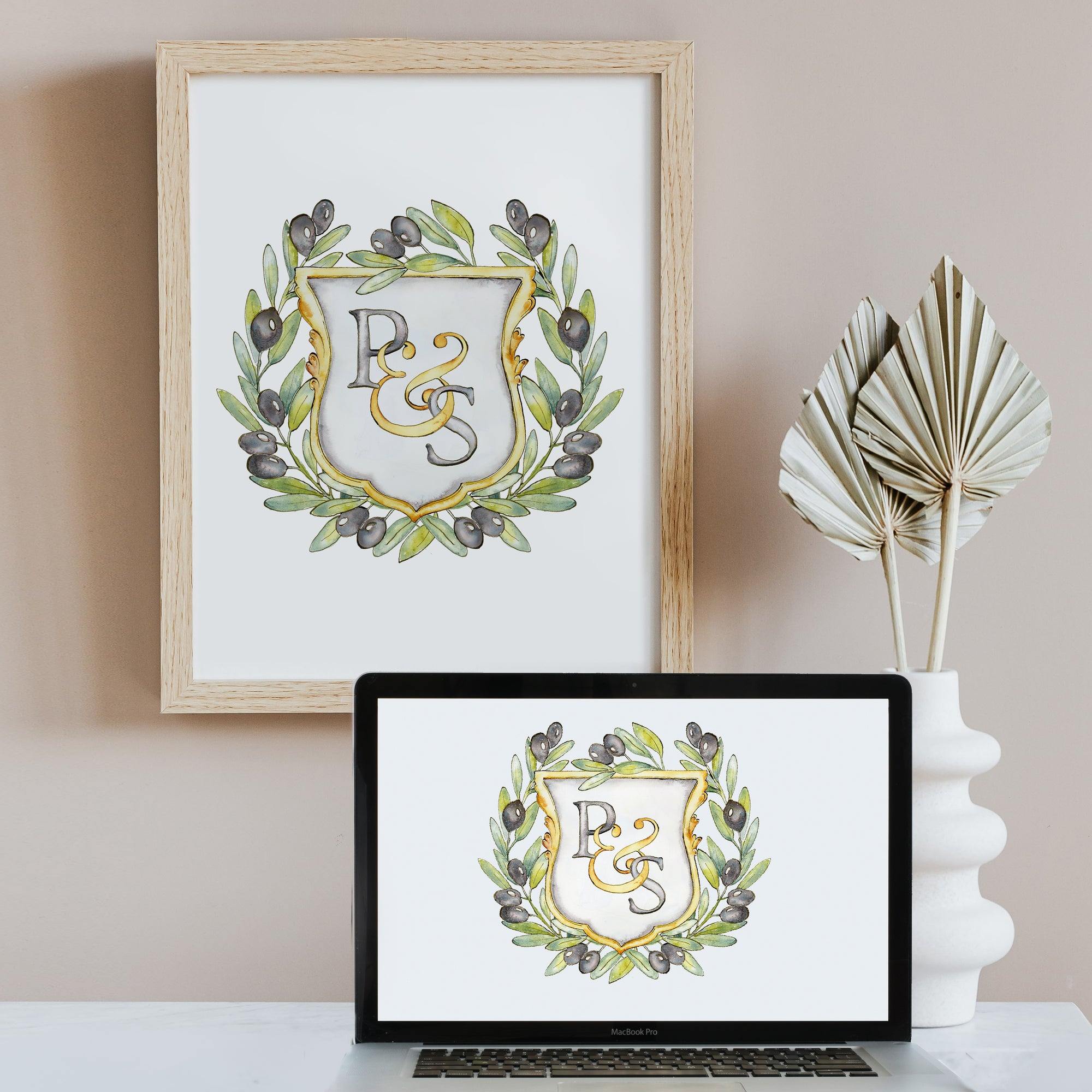 Create a Family Crest - Semi-Custom Watercolor Family Crest