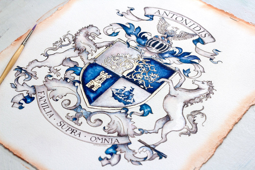Deposit for a Custom Family Crest by Jamie Hansen - Jamie Hansen Art