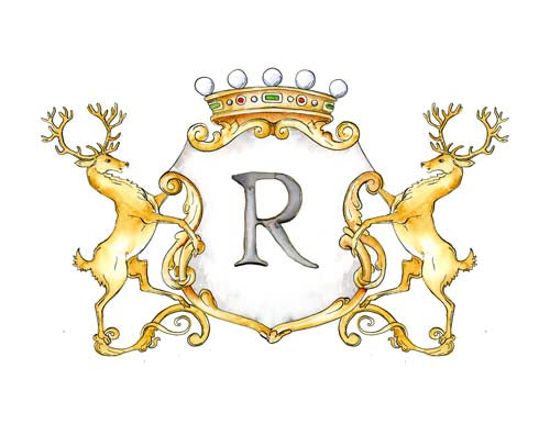 Stag Crest | Single Letter Monogram | Instant Download - Jamie Hansen Art