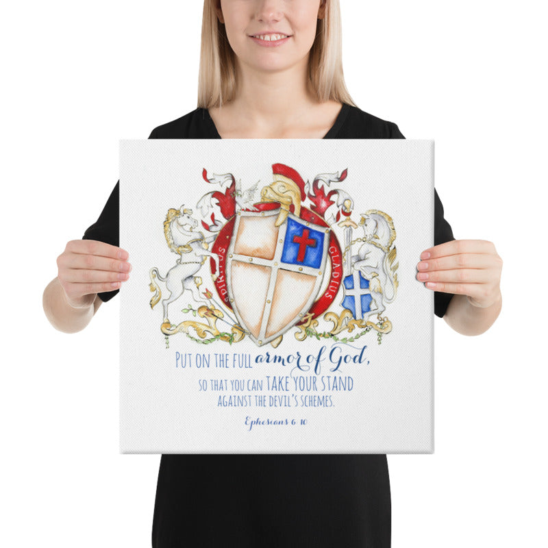 Ephesians 6:10 Bible Verse crest - Armor of God Coat of arms artwork