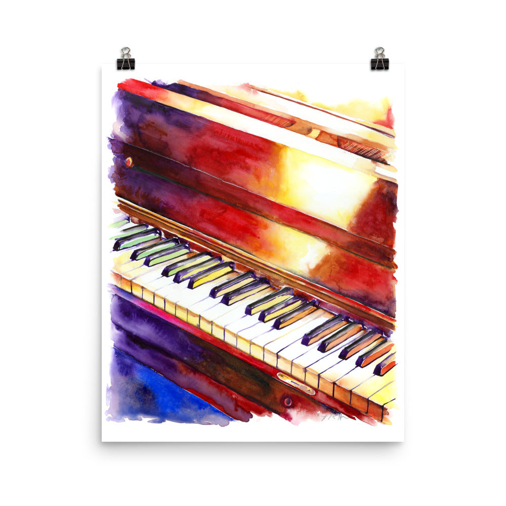 Black and White Keys - Piano Art Print by Jamie Hansen