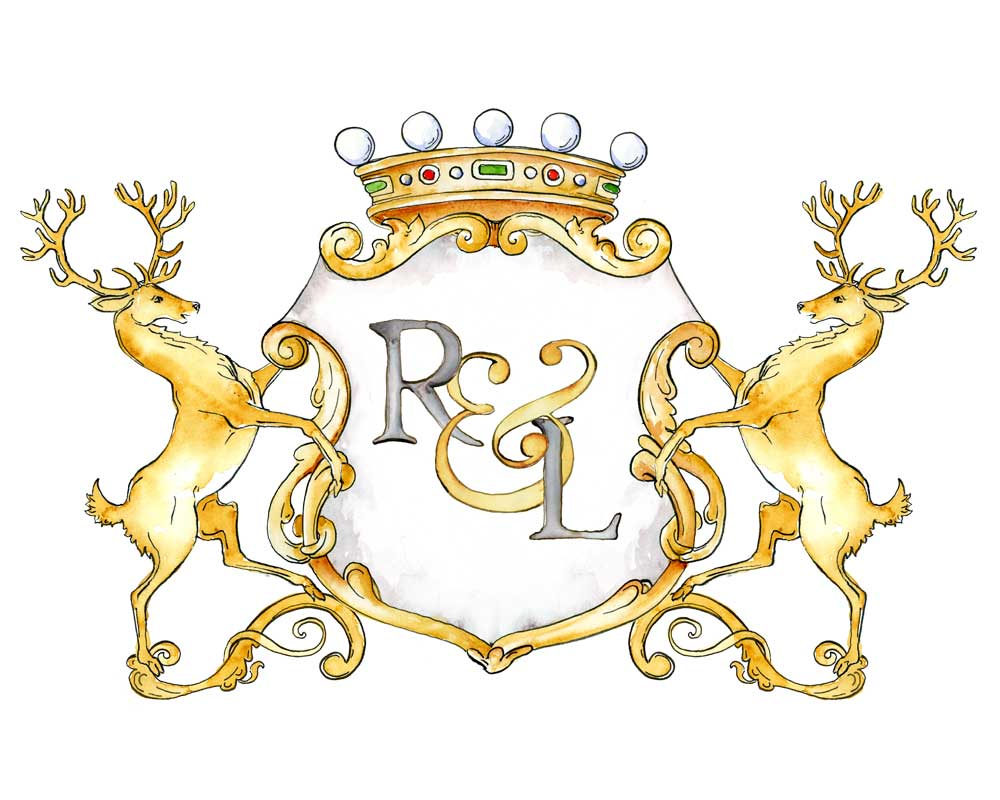 Stag Monogram Crest | Semi-Custom Crest | Digital Download - Jamie Hansen Art
