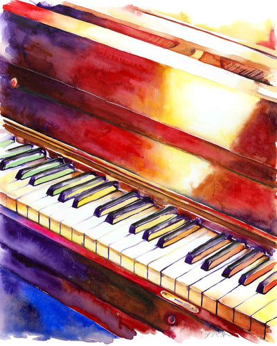 Black and White Keys Piano artwork for your music room