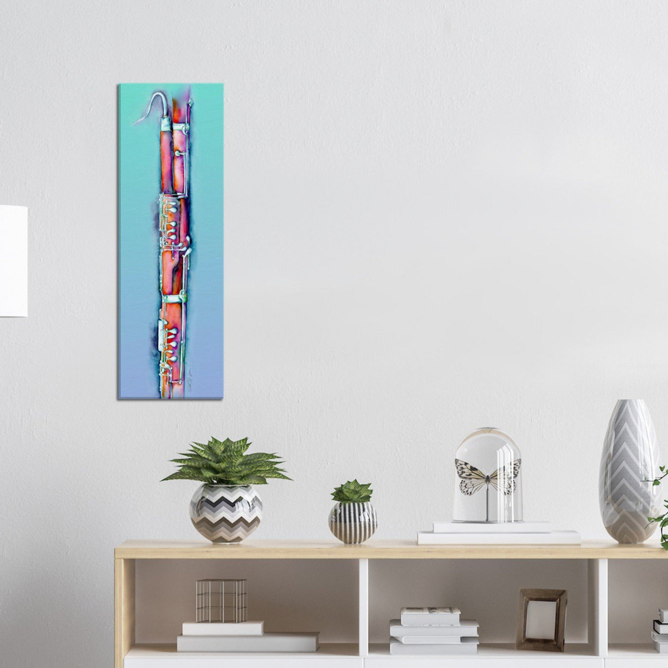 colorful bassoon canvas art