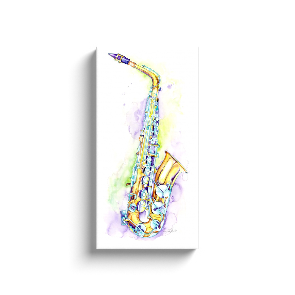 Alto Saxophone Art by Jamie Hansen - Jazz Sax watercolor art