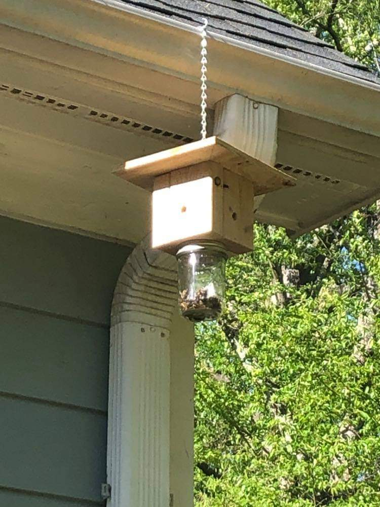 One Handmade Carpenter Bee Trap by Chris and Xander Hansen - Jamie Hansen Art