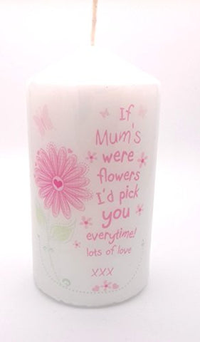 IF MUMS WERE FLOWERS CANDLE for Her Novelty keepsake Gifts Presents for Birthday Xmas Christmas Mothers Day my Mum from children son daughter kids