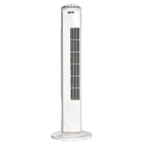 Igenix DF0030 Oscillating Tower Fan with Timer, 30 inch - White