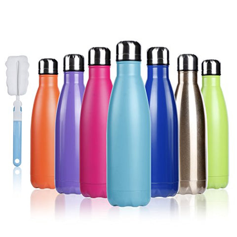 Chilli BOGI 500ml & KingDUWAY Insulated Water Bottle Double Wall Vacuum Stainless Steel, Outdoor Sports Camping Hiking Cycling - BETTIKE.com