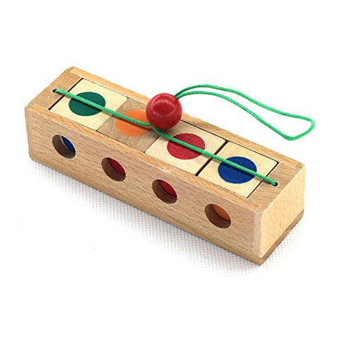 3D Wooden Brain Teaser Puzzle - BETTIKE.com