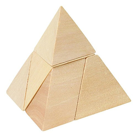 Goki Pyramid with 3-Sides Puzzle - BETTIKE.com