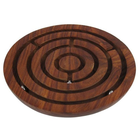 Game Labyrinth, Ball-in-a-maze Puzzles, Handcrafted - Round