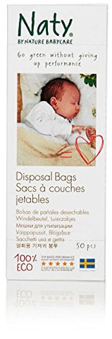 Naty by Nature Babycare Eco Disposal Nappy Bags - 3 x Packs of 50 (150 Disposal Bags) (Pack of 3)