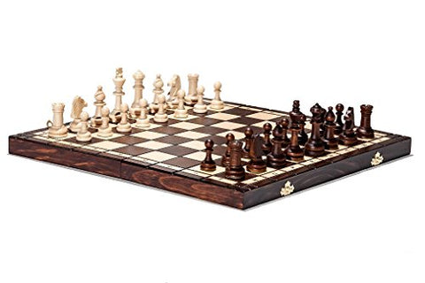 Hand Crafted Tournament 76 Wooden Chess Set 39cm x 39cm - BETTIKE.com