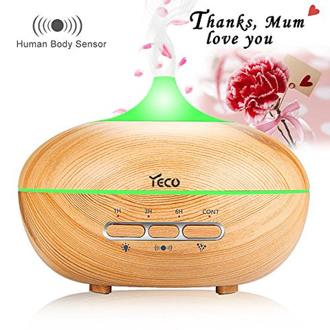 YECO Upgrade Aromatherapy Essential Oil Diffuse Cool Mist Humidifier by Automatic Human Body Detection,  Mother's Day Gift for Mum