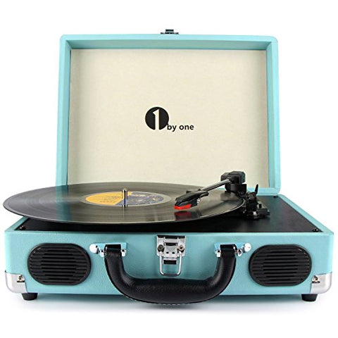 Vinyl Turntable Belt-Drive 3-Speed Portable with Built in Speakers