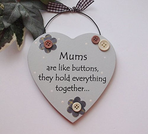 Mums are like Buttons Wooden Plaque Mothers Day Gift