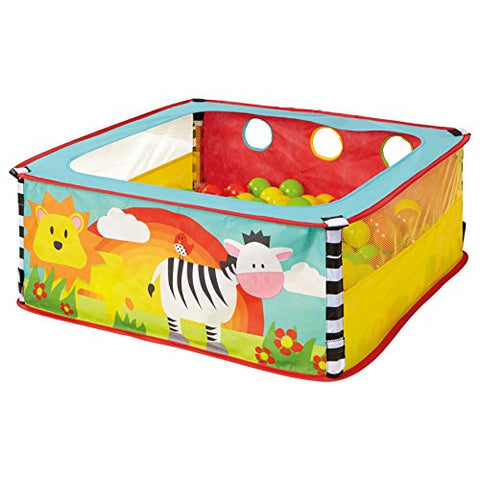 Worlds Apart Zebra Square Animal Toddler Sensory Ball Pit