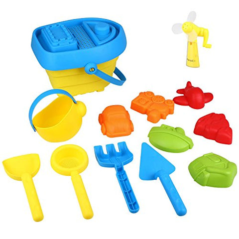 Sand Toy Set with Bucket and Spade 13PCS
