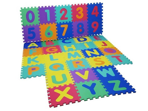 New  36 Pc Foam Alphabet Children Soft Jigsaw Puzzle Play Learning Mat Numbers