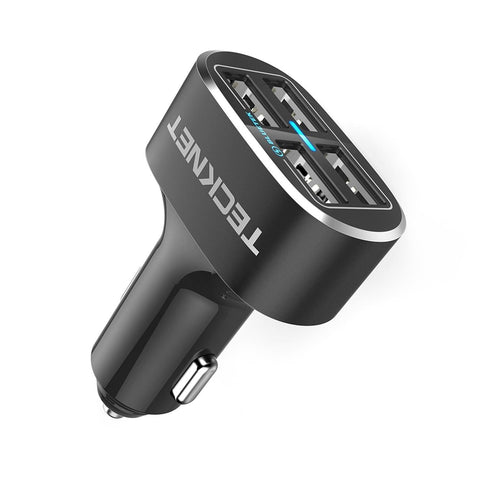 4 Port Car Charger,TeckNet 9.6A/48W USB Travel Car Adaptor Power Dash D2 with BLUETEK Technology for iPhone 8 / 7 / 6 / 6 Plus/ 6S, iPad Pro / Air 2 / Mini 5, Samsung Galaxy S8 / S7 Edge and More - BETTIKE.com