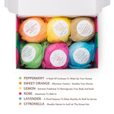 Bath Bombs Gift Set by Anjou, 6 x 100g Bath Bombs Kit, Perfect for Aromatherapy - BETTIKE.com