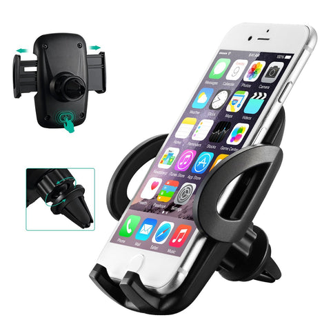 Car Phone Mount, Mpow Car Phone Holder Universal Adjustable Angle Cars Cradle, Fixing to the Grid Air Vent Car Mount for iPhone 7 7Plus 6s 5s Samsung S8 S7 Huawei Xiaomi HTC Sony and other Devices - BETTIKE.com