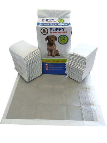Ellie-Bo 50 x Super Absorbent Puppy Training Pads with Active Charcoal and Super Absorbent Polymer Technology