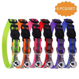 BINGPET 6PCS Reflective Adjustable Cat Collars Safety Quick Release with Bell - BETTIKE.com