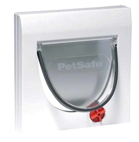 PetSafe Staywell Multi-Locking, Manual 4 Way Locking Classic Cat Flap, Easy Install, Universal Fitting, Durable, Convenient, Pet Door for Cats