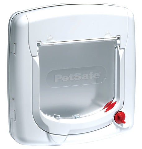 PetSafe Staywell, Deluxe Manual Cat Flap, White, 4 Way Locking, Easy Install