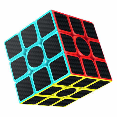 Magic Cube 3x3x3 Smooth Speed Cube 3D Puzzles Cube With Vivid Color Carbon Fiber Surface - Ultra Durable and Flexible
