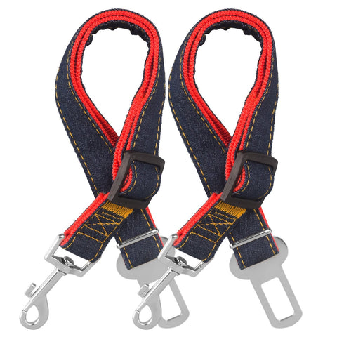 Dog Seat Belt, 2 Pack Adjustable Pet Car Seatbelt, Comsun Dog Harness Safety Leads, Cat Vehicle Traveling Leash, 17-26 Inch Adjustable Length (Red) - BETTIKE.com