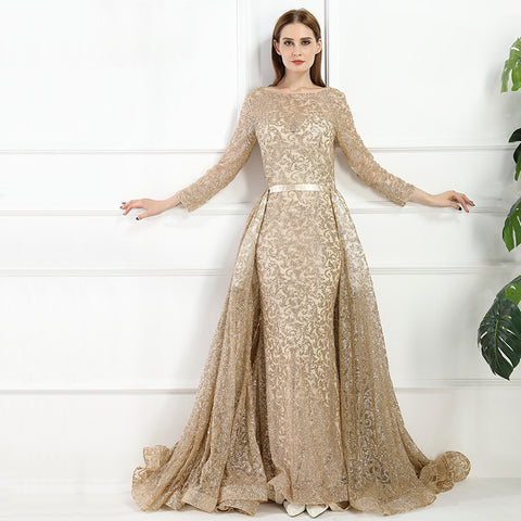 Arabian Princess Gold Evening Party Dress - Love Bettike Collection - BETTIKE.com