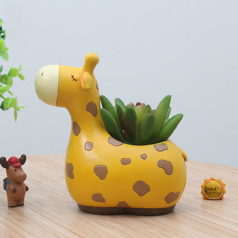 Creative Animals giraffe Shape Desktop Decorate Flower Pots Exquisite gift - BETTIKE.com