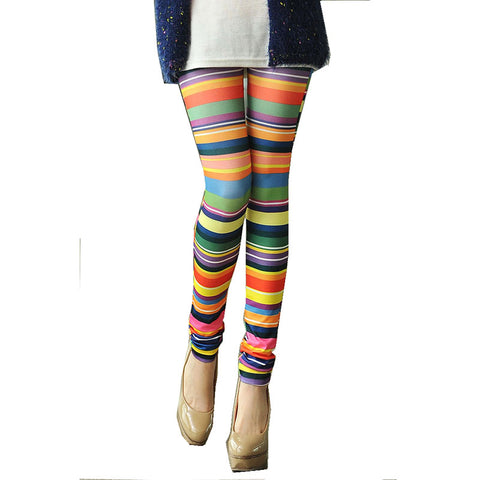 Casual Leggings Disco Pants Multi color - BETTIKE.com