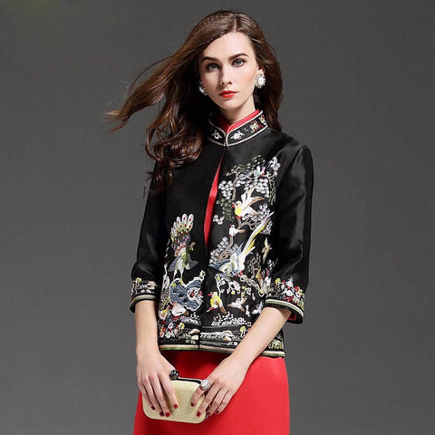 Swan Art Jacket Floral Love Fashion Collection - BETTIKE.com