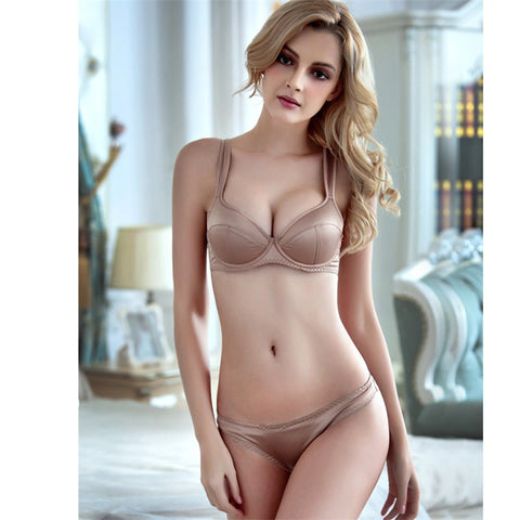 New underwear thin cup cotton breathable bra sets for women