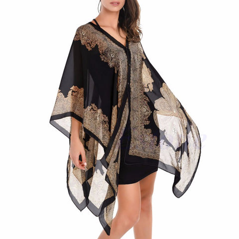 5 Color Sexy Women Chiffon Wrap Dress Bikini Swimwear Cover Up Long Scarf - BETTIKE.com