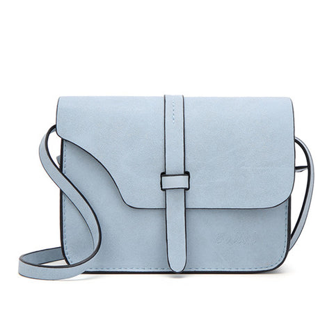 Candy Color Leather Fashion Single Strap Cross-body Ladies Bag - BETTIKE.com