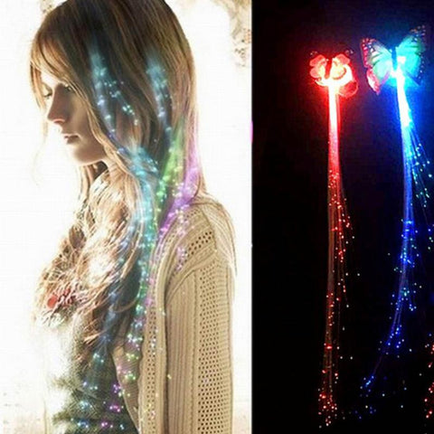 Colorful Butterfly Light Braids LED Glowing Hair Braid - BETTIKE.com
