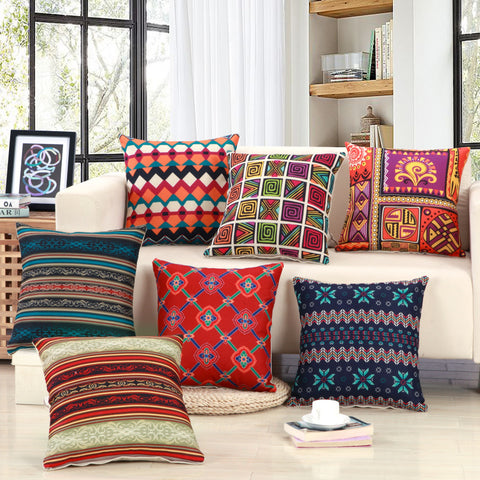 Geometric Striped Pattern Cushion Covers