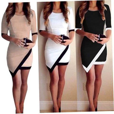 Women Short Summer Slim Casual Cocktail Party Dress
