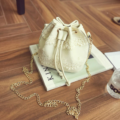 Bohemia Canvas Drawstring Lady Bucket Bag - BETTIKE.com
