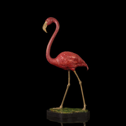 Bronze flamingos statue Birds sculptures - BETTIKE.com