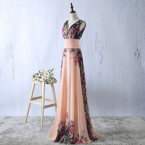 Sweetheart Floor Length Floral Evening Dress - Love Bettike Collection - BETTIKE.com