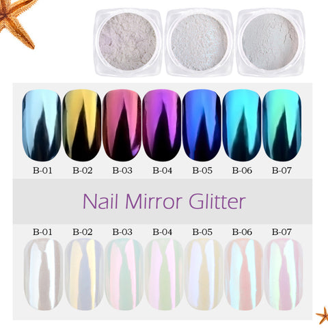 1G Nail Art Chrome Mirror Nail Glitter Pigment Powder - BETTIKE.com