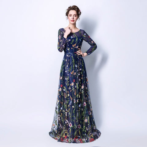 Delicate Floral Party Wedding Evening Dress - Love Bettike Collection - BETTIKE.com